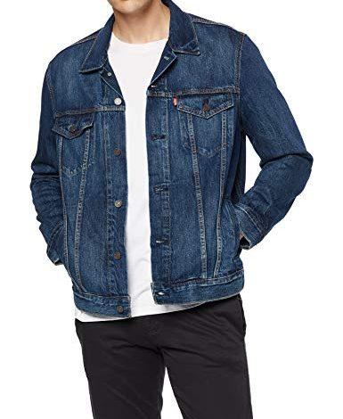Homme Veste en jean Trucker Jean Manteau Classique Western Style Casual Taille Plus