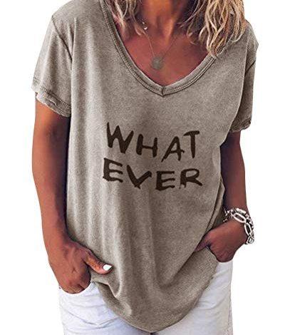 Femmes Top T-shirt d/'été chemisier Shirts encolure en V manches courtes coton t.1.6