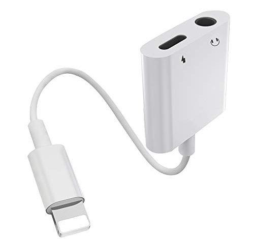 Rouge Adaptateur Jack pour iPhone Adaptateur iPhone 7 Ecouteur et Chargeur Splitter